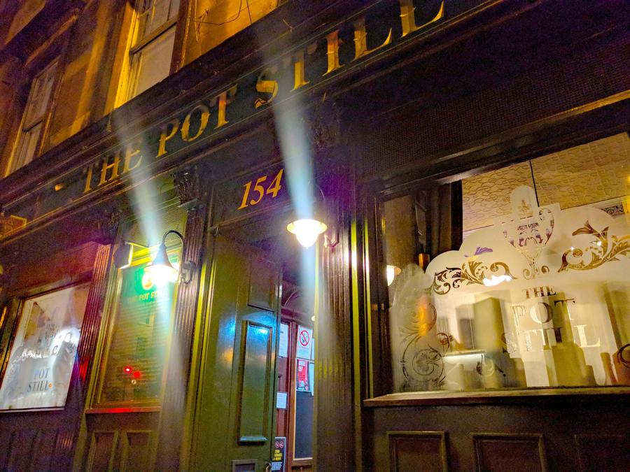 The Pot Still in Glasgow at night