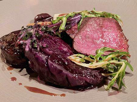 venison and cabbage at Cail Bruich