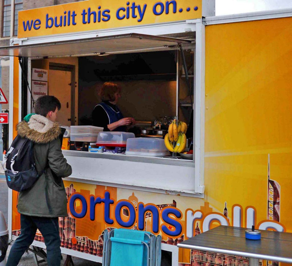 Glasgow street fare: Morton's Rolls and fried Mars Bars