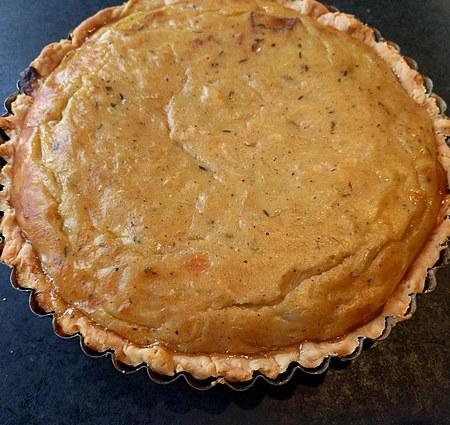 Alsatian onion tart made with Vidalia oniions
