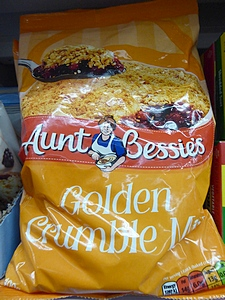 Golden crumble mix in grocery store