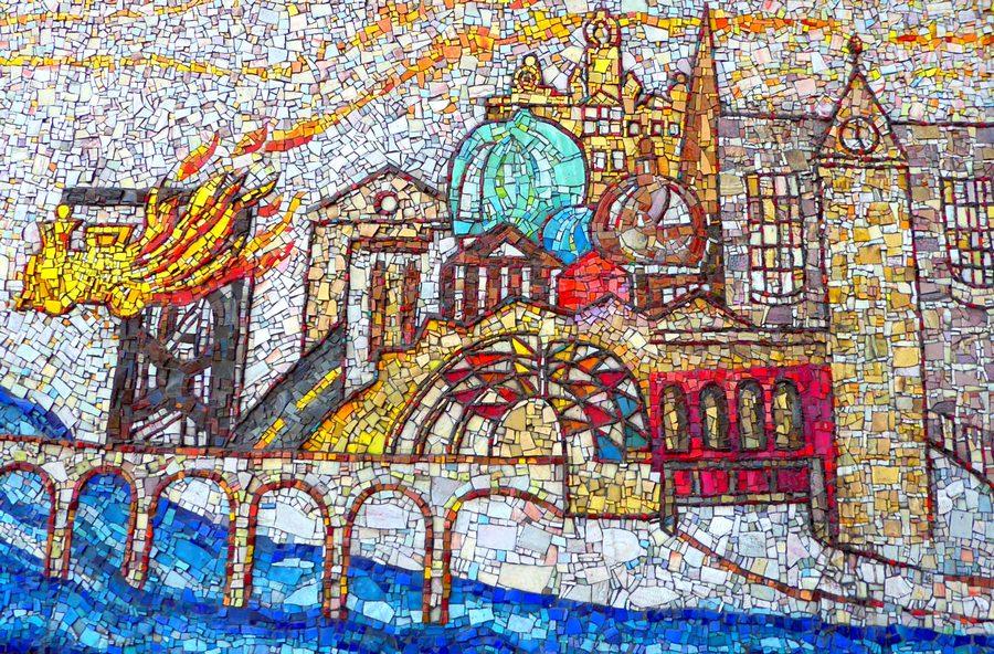 Glasgow train station tiles