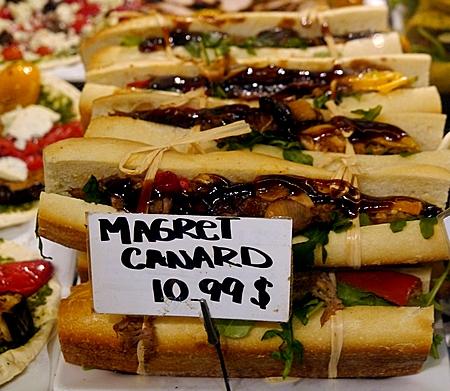 duck sandwich inside Desjardins