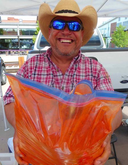 Cresencio Ochoa with red chile