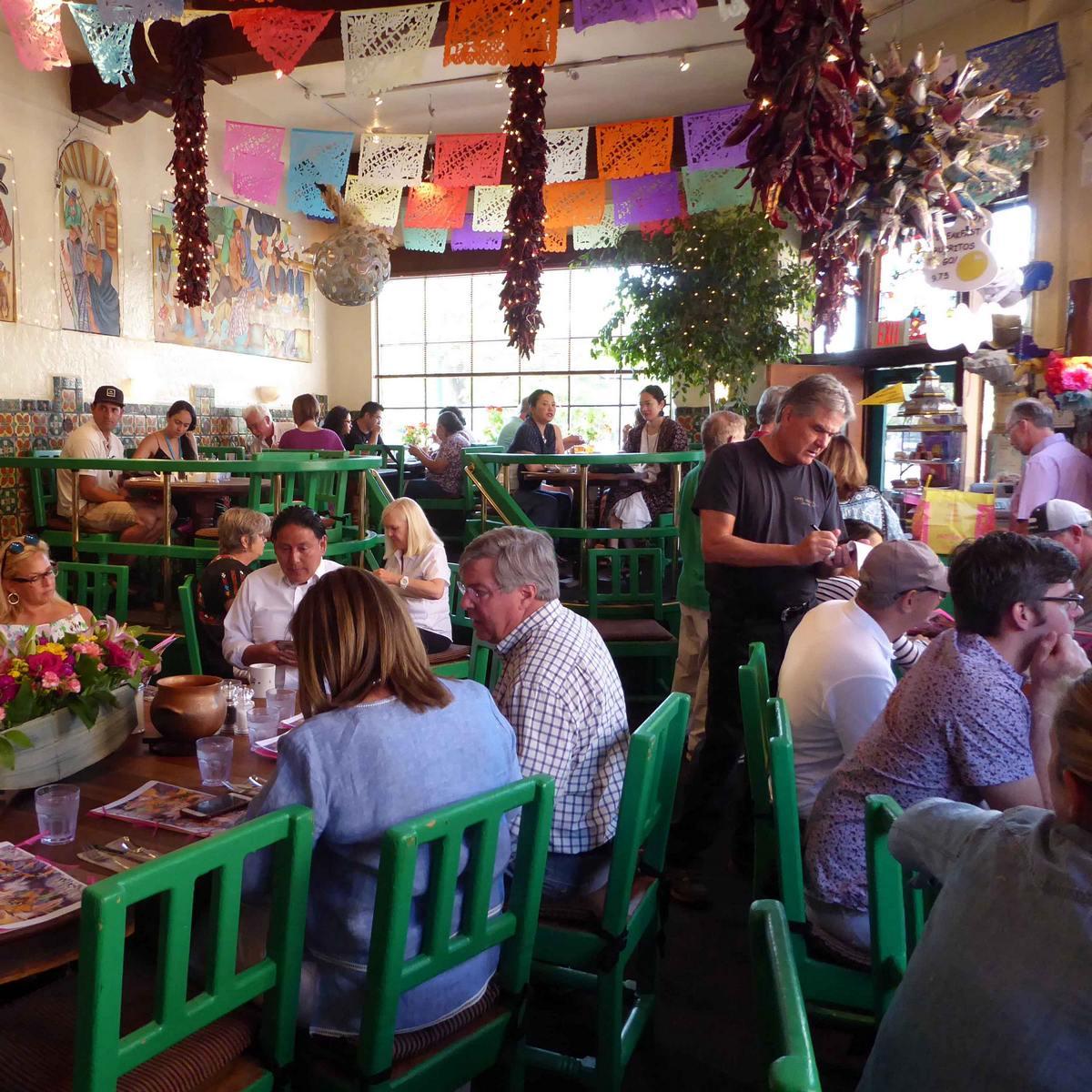 Interior of Cafe Pasqual's in Santa Fe