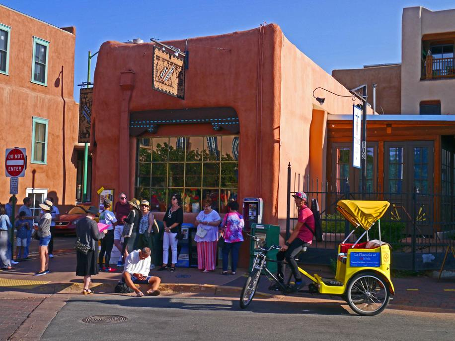 Waiting to get into Cafe Pasqual's in Santa Fe