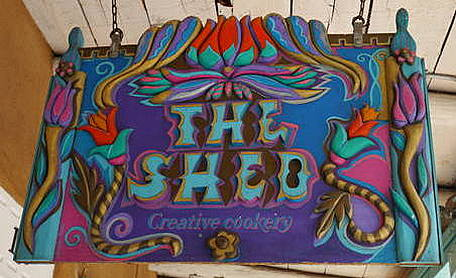 sign for The Shed in Santa Fe