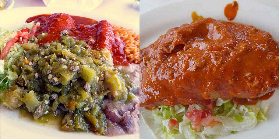 two dishes at Mary and Tito's in Albuquerque, N.M.