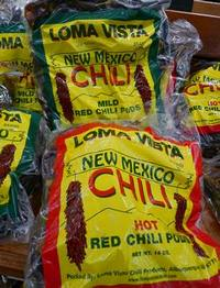 Bag of whole chile pods in New Mexico grocer store