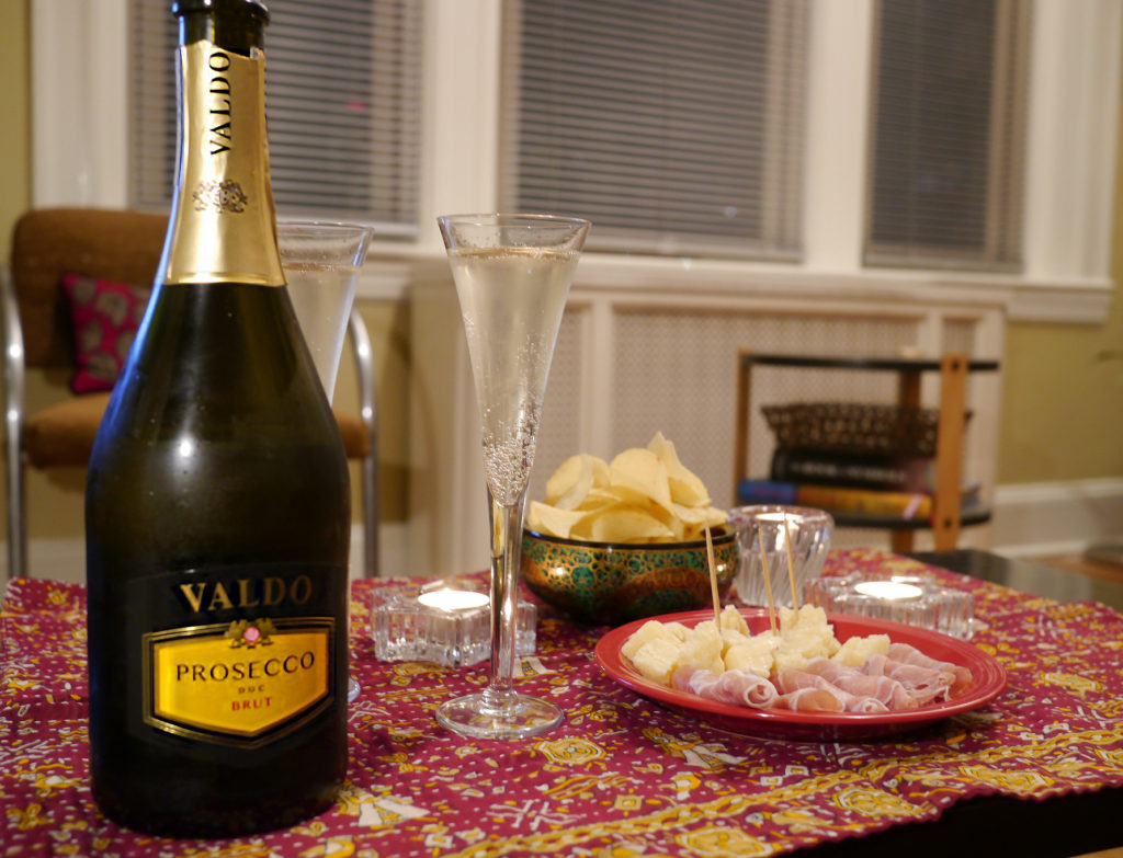 Prosecco loves Parmigiano, prosciutto, and potato chips