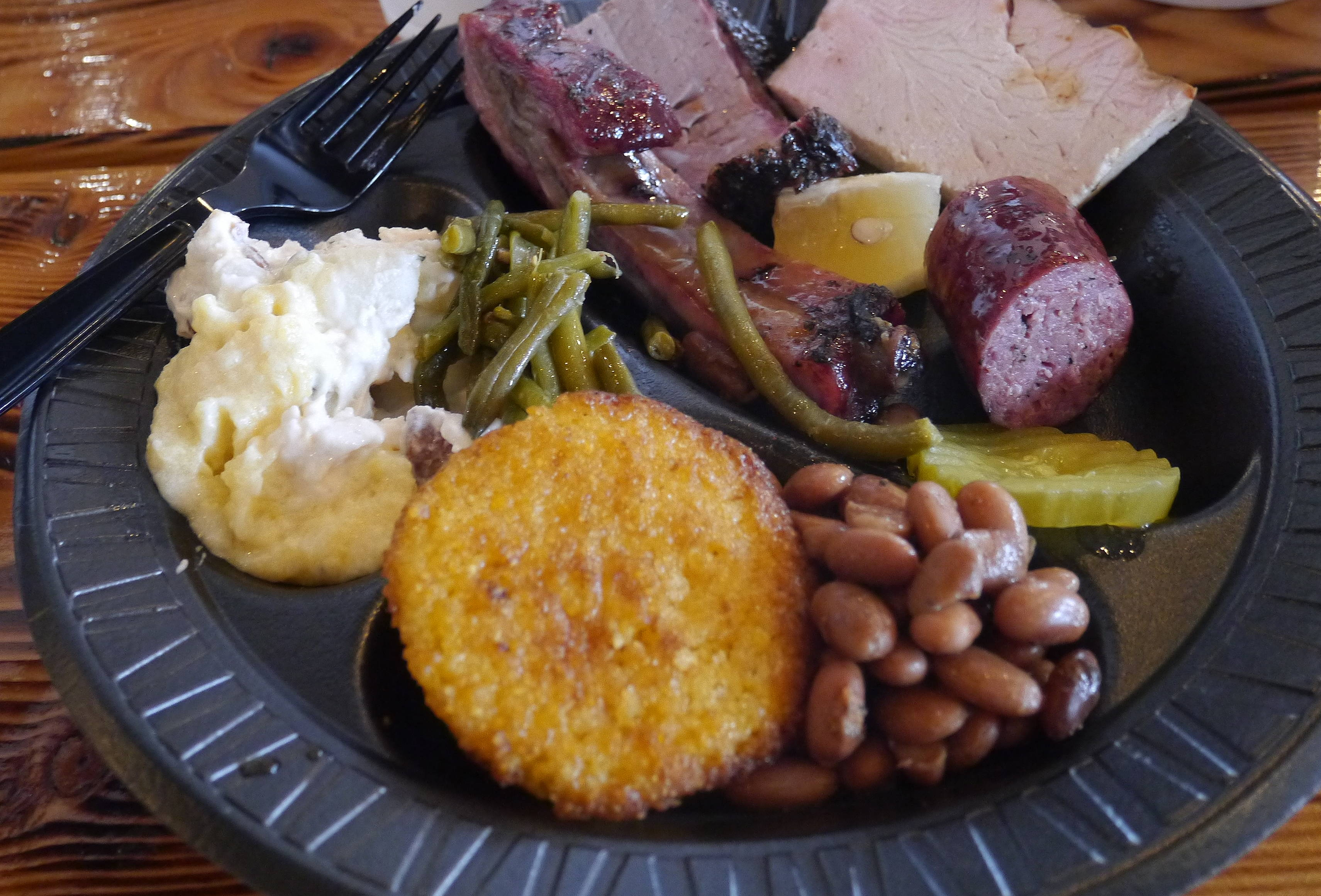 plate of food at Evie Mae's Pit Barbecue