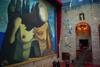 Walking around in the Dalí Theatre-Museum in Figueres is a little like rummaging through the back rooms of Salvador Dalí's brain.