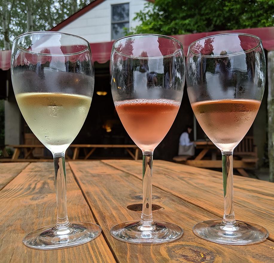 McCall Wines tasting flight