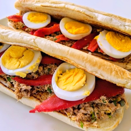 tuna egg capers sandwich