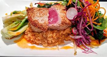 East Coast tuna with red lentils 350