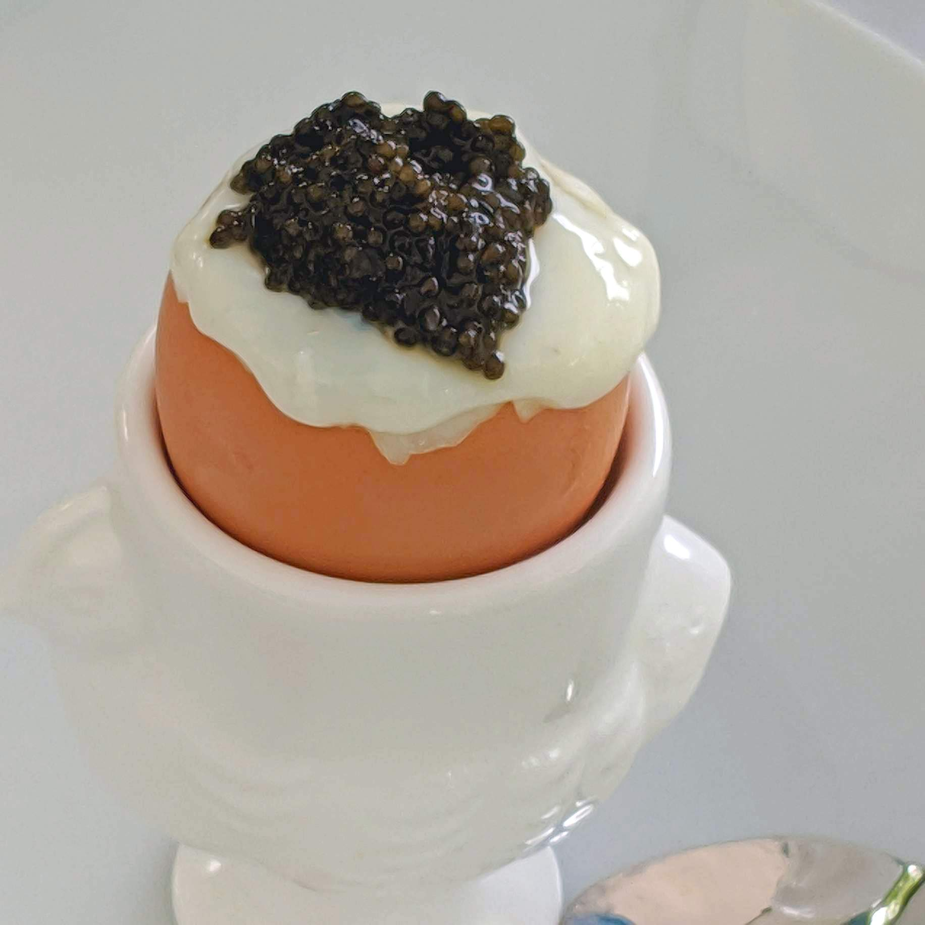 Nothing like caviar and boiled egg