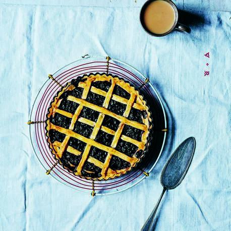 blackcurrant tart from LEON