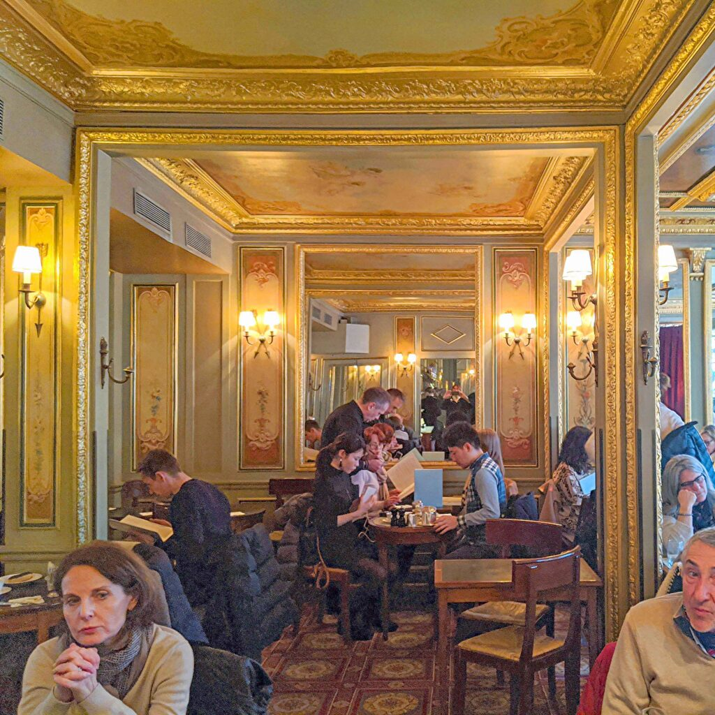 Warming up with hot drinks in wintry Paris